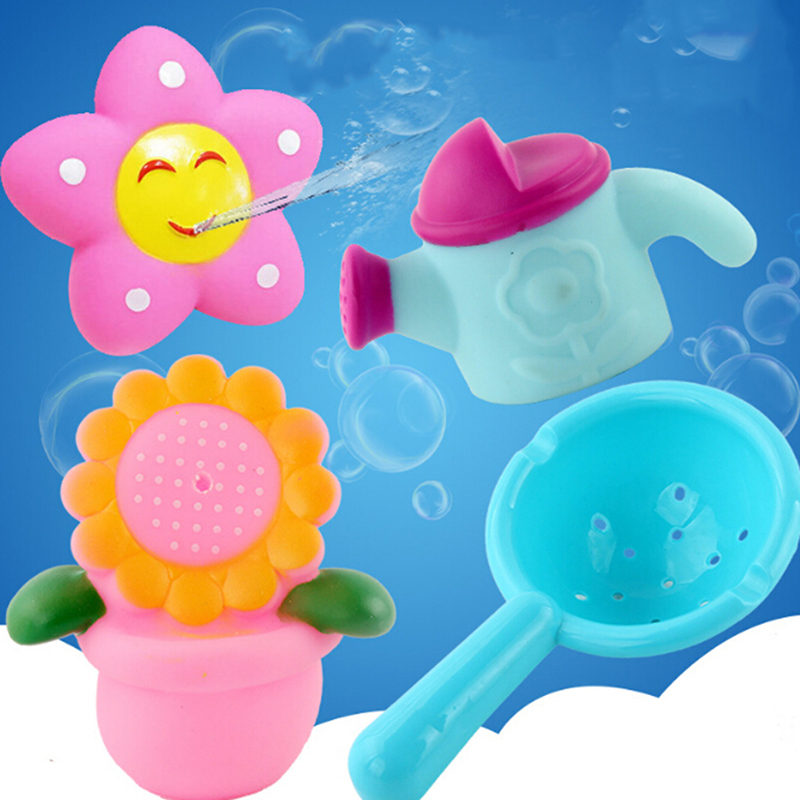 Toys & Hobbies Energetic 4-5 Pcs Lovely Mixed Animals Colorful Soft Rubber Float Spraying Toy Tools Fish Toys For Baby Cool In Summer And Warm In Winter