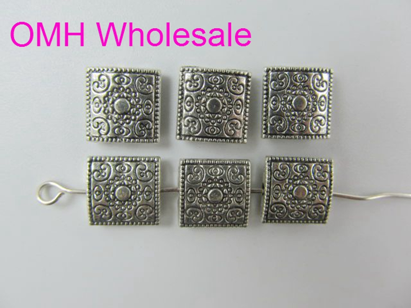 Wholesale Mixed Tibet Silver Beads Finding For Jewelry making Free 50g 90pcs