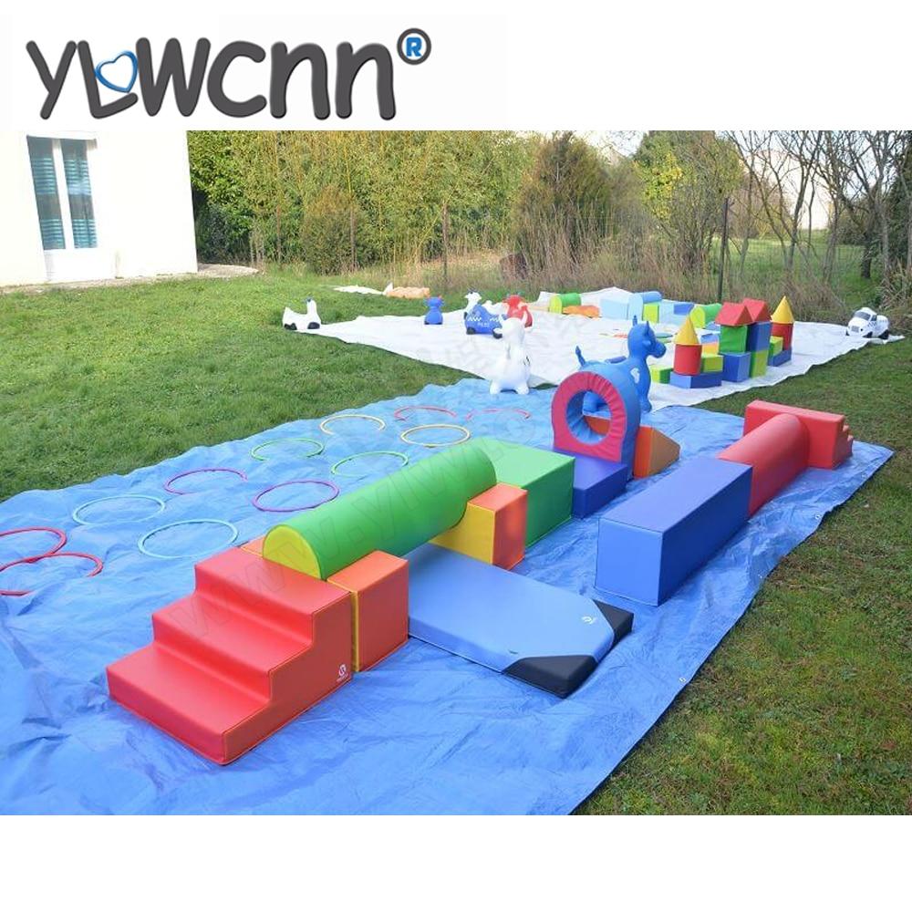 Ensembles de jeu doux pour enfants en bas âge équipement de gymnastique doux pour enfants module de parc pour bébé parcour junior motricite INA171079