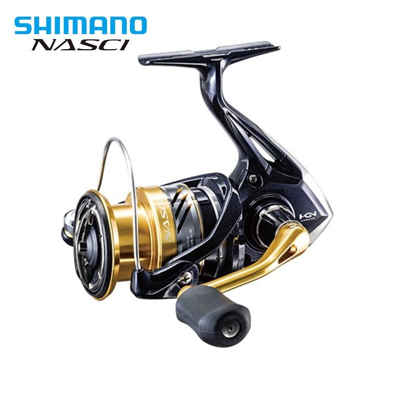 SPINNING Wheel SHIMANO NASCI Fishing Tackle 2500-4000 Fish Line wheel gear ratio 5.0:1/6.2:1 Front Drag Spinning Reel 4/1BB shimano 13 nasci 2500 scmgr