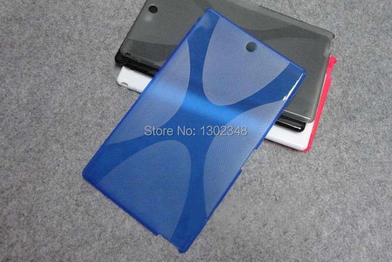 アンチスキッド X ラインソフトシリコンゴム TPU ジェルスキンカバーケース Funda ソニーの Xperia Z3 タブレットコンパクト SGP621/SGP641 8 インチ