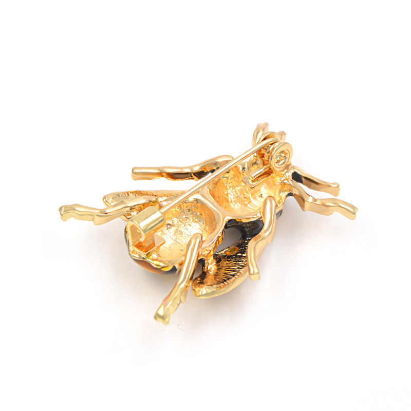 CINDY XIANG Unisex Colorful Insect Brooches Cute Bee Brooch Pin Gold Color Enamel Jewelry Fashion Dress Accessories High Qulity
