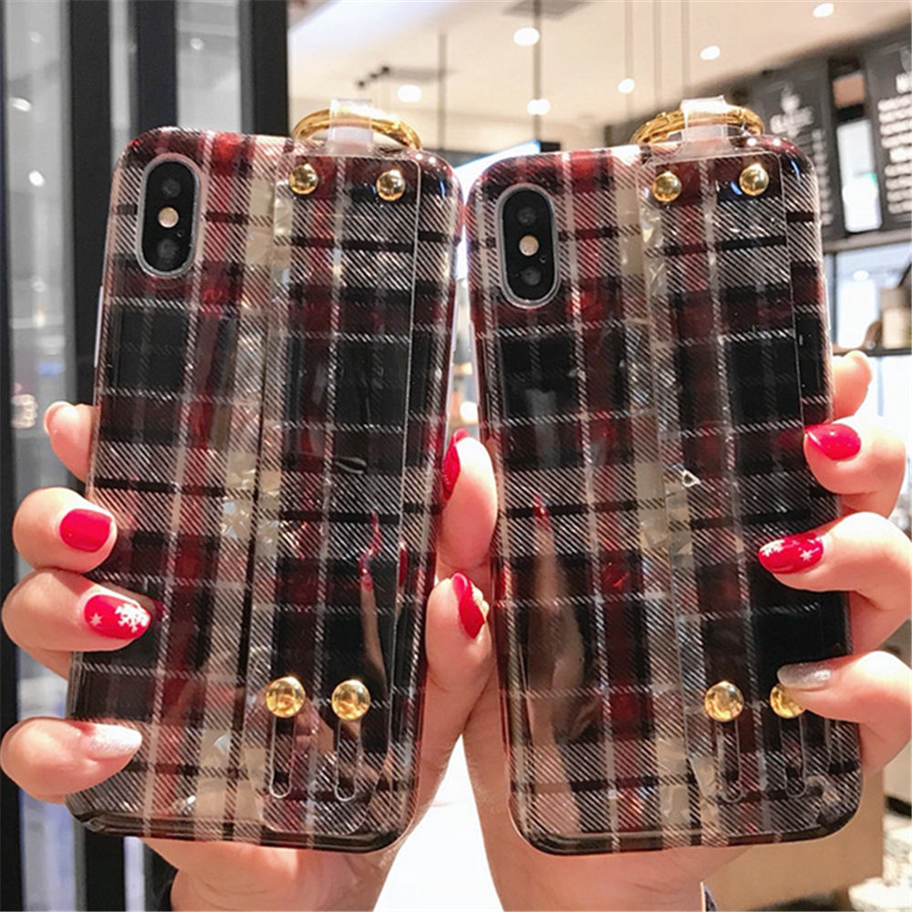 Retro British Style Case for Iphone XS Max XR 7 Kickstand Shock Absorption TPU Case Compatible with Ip7/8/X/Xs/XR/Xs Max 2301218
