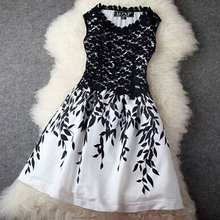 Sexy Women Casual Sleeveless Evening Party  Lace Floral Short Mini Dress