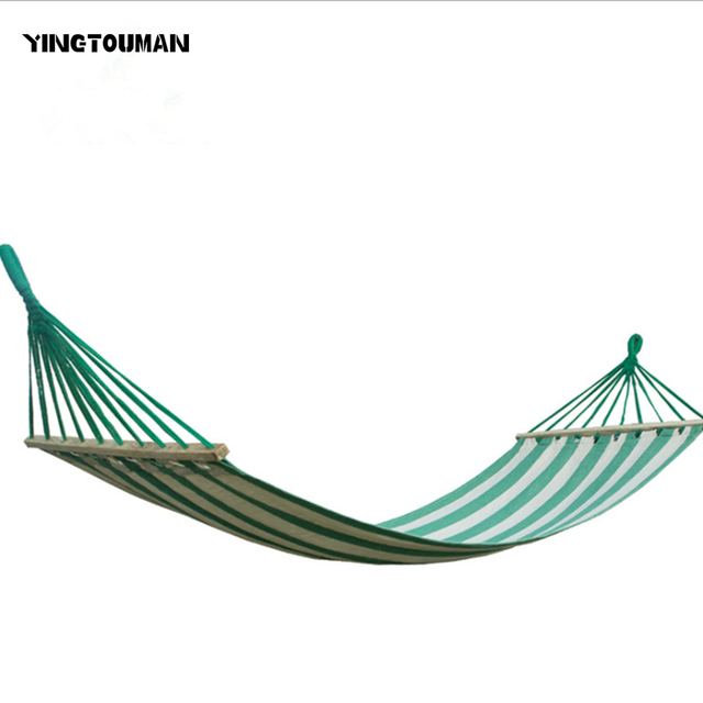yingtouman 280 x 80cm canvas hammock double outdoor hammocks garden camping hanging bed spreader bar hammock yingtouman 280 x 80cm canvas hammock double outdoor hammocks      rh   aliexpress