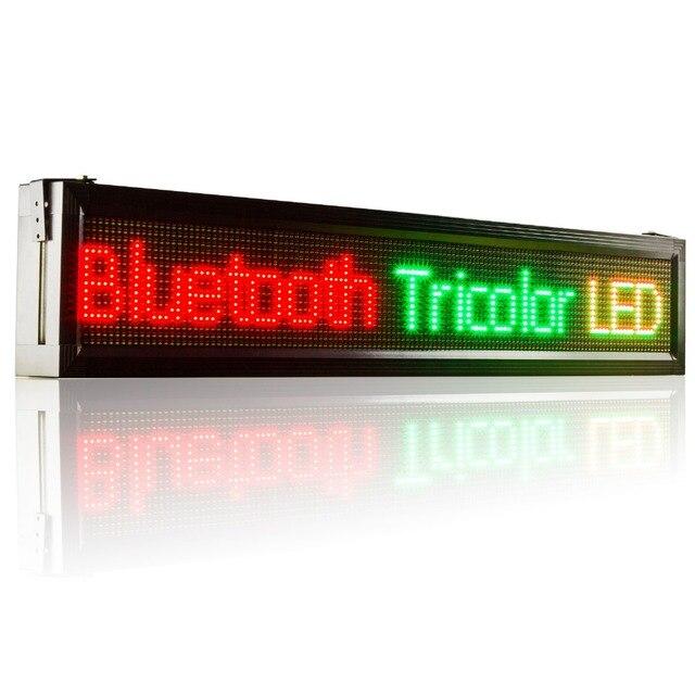 41 X 9.5 дюйм(ов) открытый Bluetooth пульт дистанционного управления из светодиодов дисплей tri-rail цвет текста вывеску перемещения панель сообщений