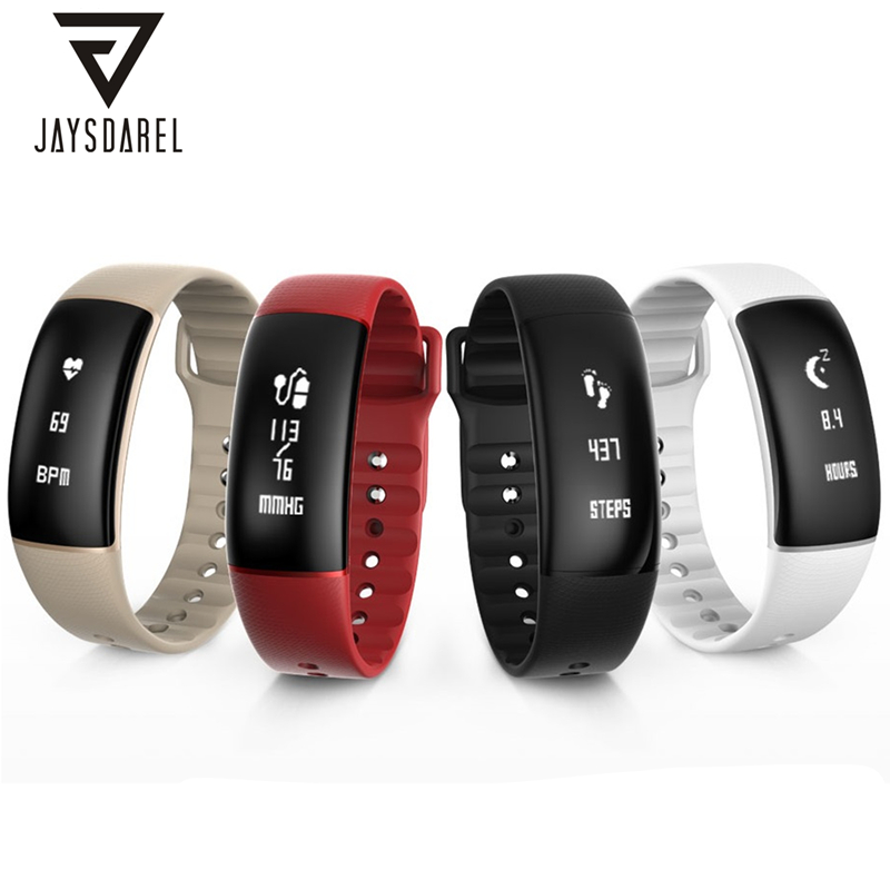 JAYSDAREL A69 Heart Rate Blood Pressure Monitor Smart Watch Fitness Tracker Pedometer Smart Wristwatch Bracelet for Android iOS wireless heart rate monitor watch smart pedometer fitness tracker for sports