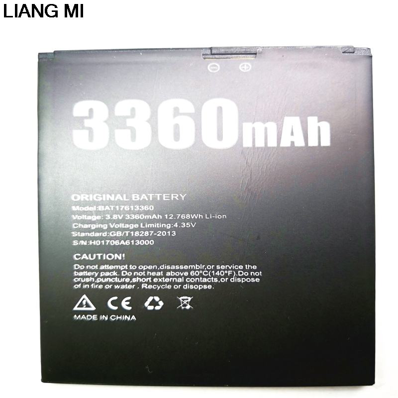 Mobile phone <font><b>battery</b></font> DOOGEE BAT17613360 <font><b>battery</b></font> <font><b>X30</b></font> 3360mAh Long standby time High capacit DOOGEE with phone stander for gift image