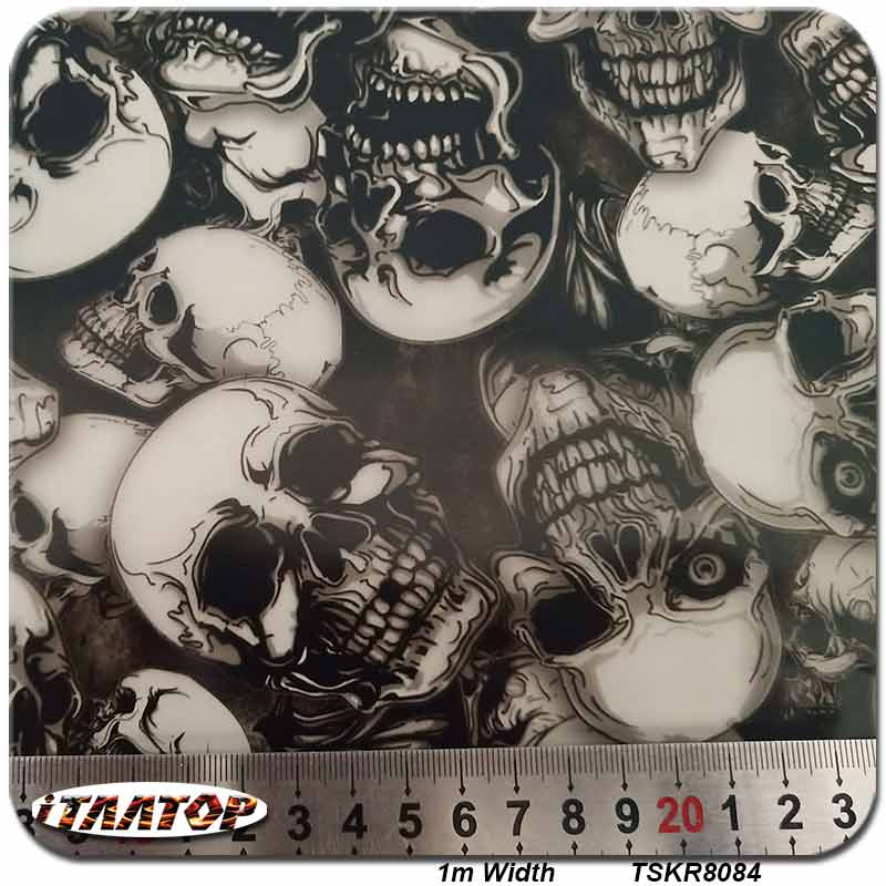 iTAATOP Hydro Dipping Film TSKR8084 1M 10M Skull Film Water Transfer Printing