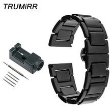 20mm Full Ceramic Watchband + Link Remover for Diesel Men Women Watch