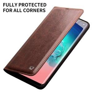 Image 4 - QIALINO Echt Lederen Case voor Samsung Galaxy S10 Bag Kaartsleuf Ultra Dunne Flip Cover voor Galaxy S10 + Plus voor 5.8/6.2 inch