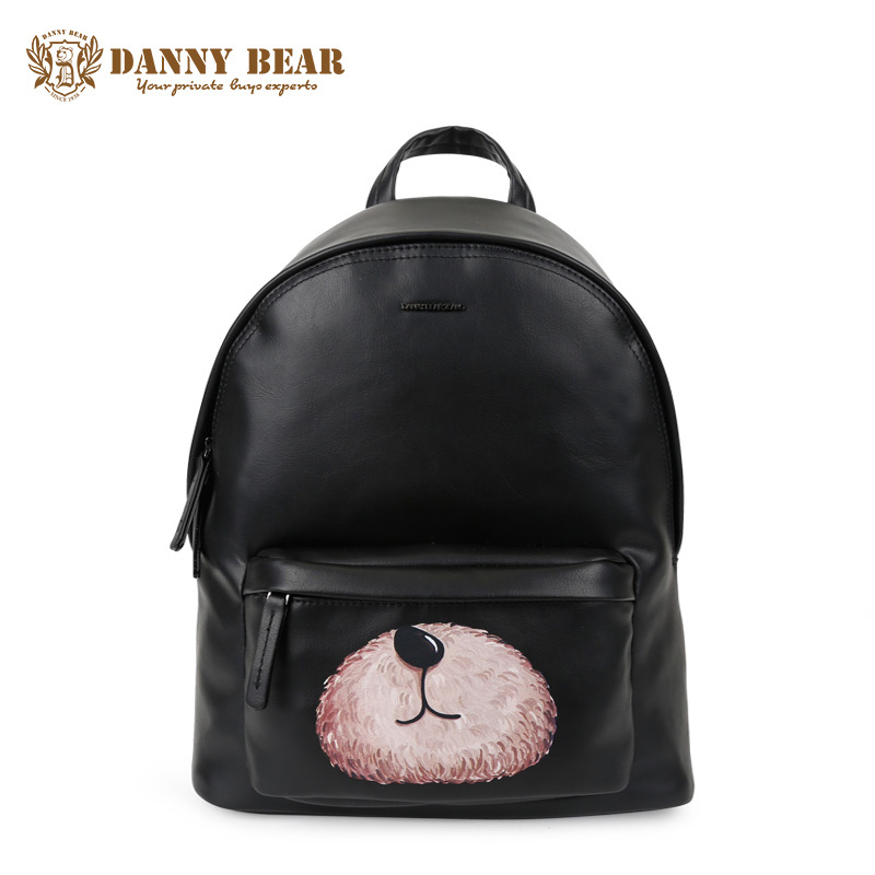 DANNY BEAR Women Vintage Leather Backpack Cheap Cute School Backpacks For Teenage Girls Large Shoulder Bags Man Travel Daypack danny bear women vintage leather backpack cheap cute school backpacks for teenage girls large shoulder bags man travel daypack