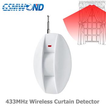 433MHz bezprzewodowa kurtyna czujnik podczerwieni okno otwarty detektor system alarmowy gsm 433 MHZ dla system alarmowy gsm tanie i dobre opinie GSMWOND MU-A1 Window Wireless
