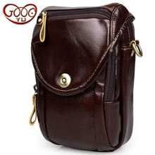 Casual men's leather small satchel pockets first layer of leather leather bag dumplings camera bag