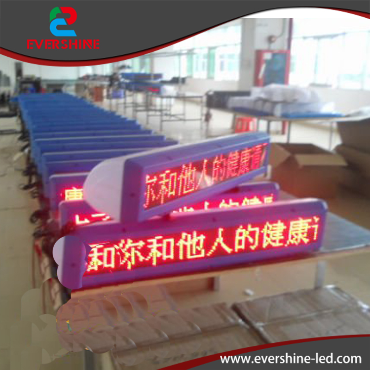 Outdoor Waterproof GPRS Wireless RED Color TAXI LED Sign  Display Size 850x180x240mm hd high quality led gas price display sign outdoor led billboard green color 12 outdoor led display screen