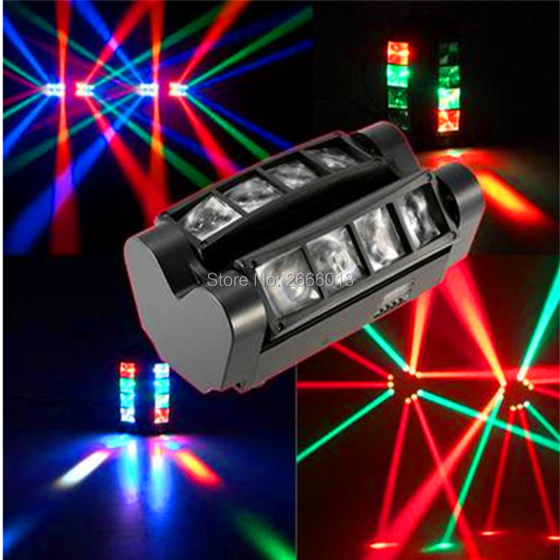 Niugul Mini led spider light rgbw LED beam light/dj home party ktv DMX512 stage effect lighting chandelier with Free Shipping 10w mini led beam moving head light led spot beam dj disco lighting christmas party light rgbw dmx stage light effect chandelier