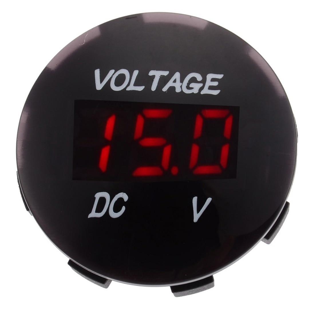 1pcs DC 12V-24V Car Motorcycle LED Panel Auto Boat Digital Display Volt Voltage Gauge Meter Blue Red Green 3 Colors Selected