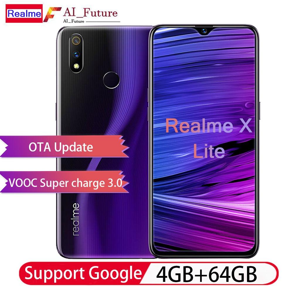 OPPO Realme X Lite 6.3 pouces FHD + Corning Glass 5 4045 mAh 4 GB RAM 64 GB ROM Snapdragon 710 Octa Core 2.2 GHz 4G Smartphone