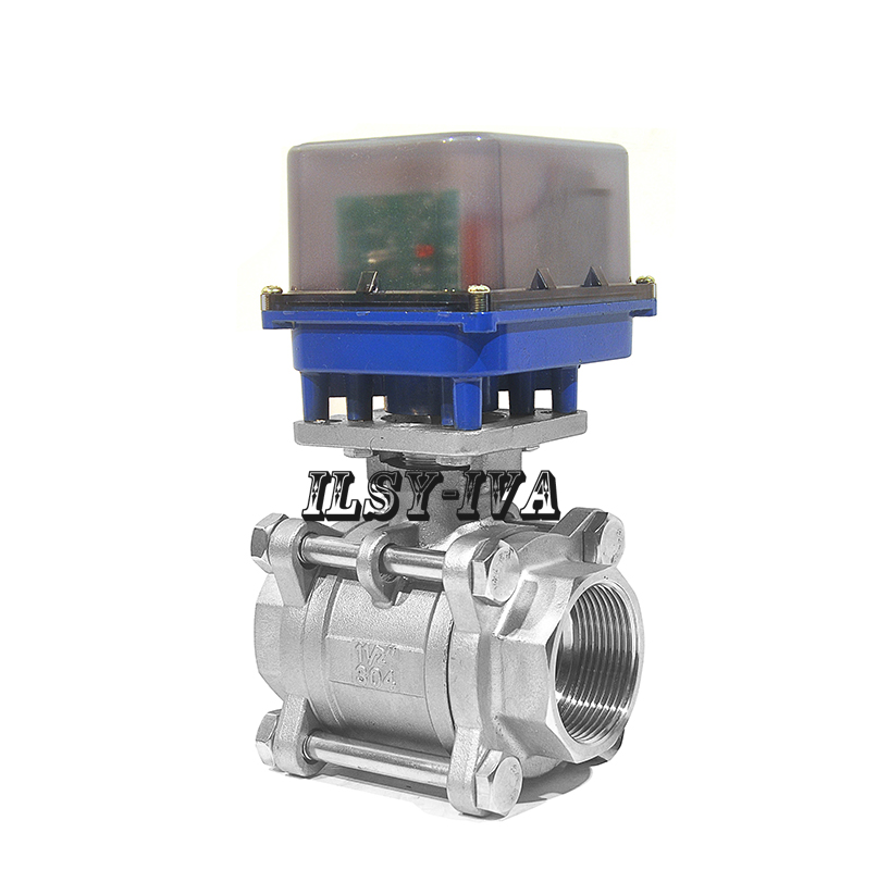 Dn40 Two Way Motorized Ball Valve Ac12v  24v  220v Three