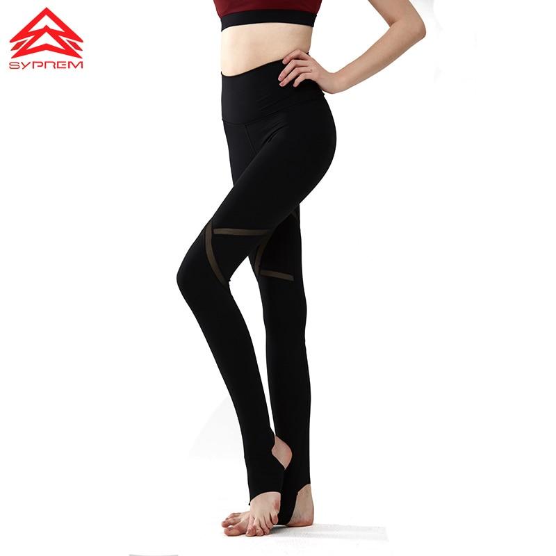 Syprem Yoga Black Leggings For Women Full Length Sports Pants Quick Dry Slim Gym Pants high-Waist Mesh Design Sportswear,MS0010 active plain design stitching design gym leggings in purple