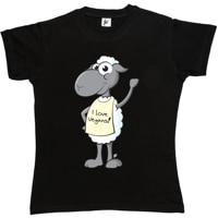 Возьмите размахивая Улыбающееся овец носить я люблю веганов знак Женские футболки печатных Топы корректирующие Популярные Футболки для де...