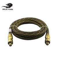 Digital Optical Fiber Cable Toslink To Toslink Audio Cable 24K Gold Plated Connector Free Shipping