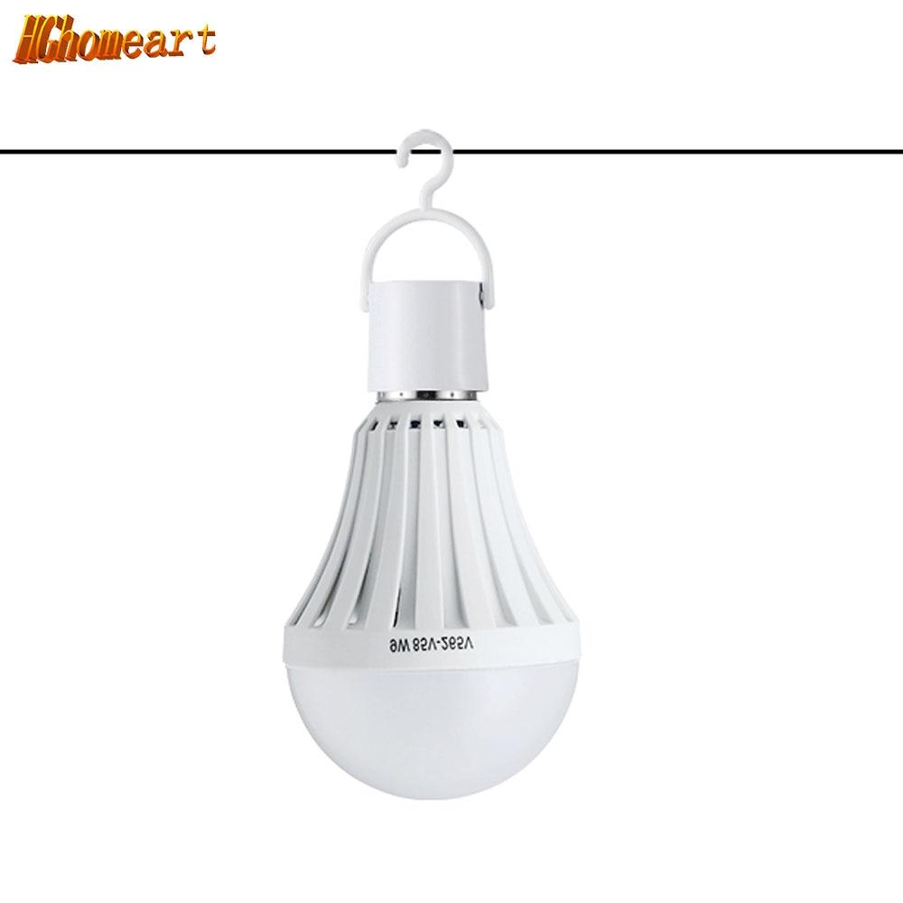 HGHomeart LED Lamp Bulb E27 Lampada Charge Emergency Lighting Light-emitting Diode Searchlight Home Decor Bulbs110V/220V