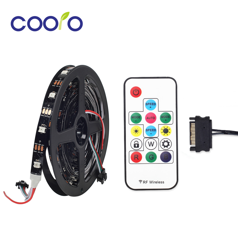 1M 30/60leds WS2812 WS2812B LED Strip Light with LED Symphony Controller SATA Interface for PC Computer Case Decoration         1M 30/60leds WS2812 WS2812B LED Strip Light with LED Symphony Controller SATA Interface for PC Computer Case Decoration