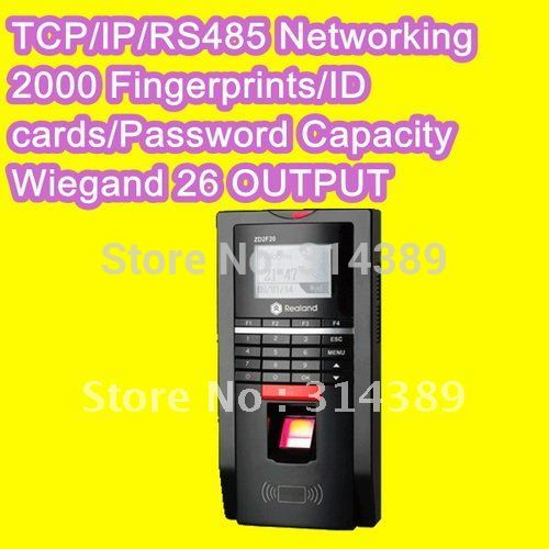 Biometric Fingerprint reader TCP /IP/RS485 Access Control pin code EM card reader built-in door lock Attendance F20 tcp ip biometric face recognition door access control system with fingerprint reader and back up battery door access controller