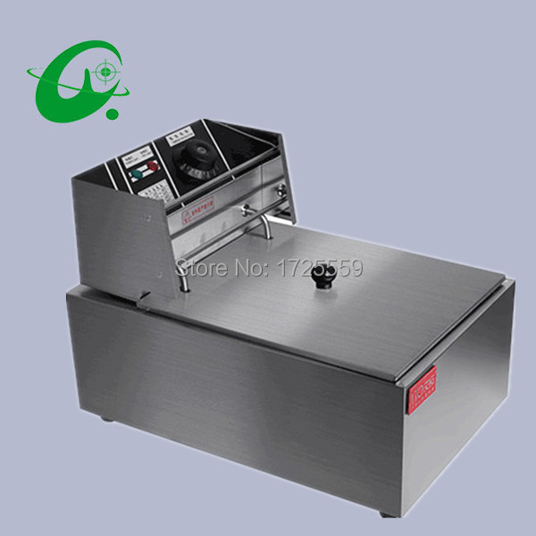 220V Electric deep fryer, 8L Commercial air fryer, Potato chip/french fries/chicken fryer commercial electric deep fryer chicken fries chips machine high quality chip fryer deep fryer oil filter machine kw ef8l