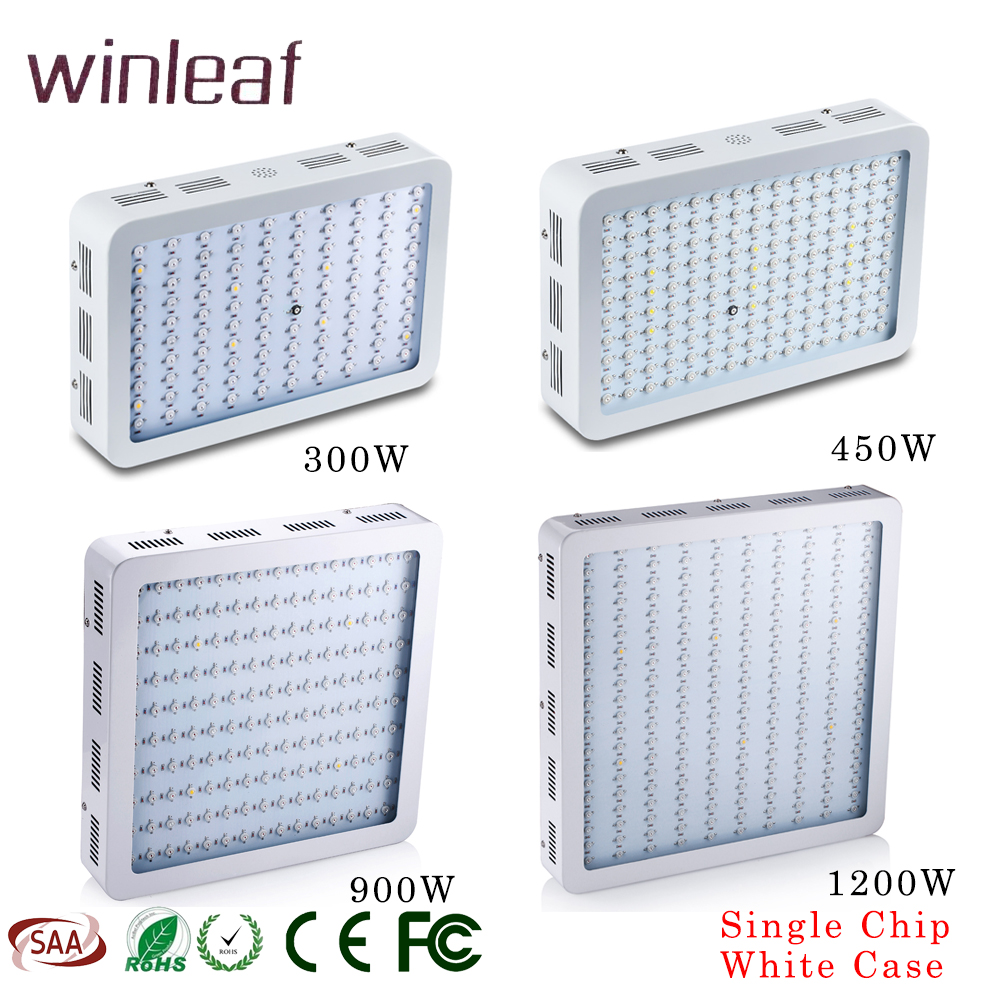Single Chip LED Grow Light 300W/450W/900W/1200W For Indoor Plant Grow Lights Full Spectrum With UV&IR For Veg And Flower 2pcs 30mil 10w 660nm plant grow lights led chip dc6 7v 1000ma excellent quality light source for plant grow faster and batter