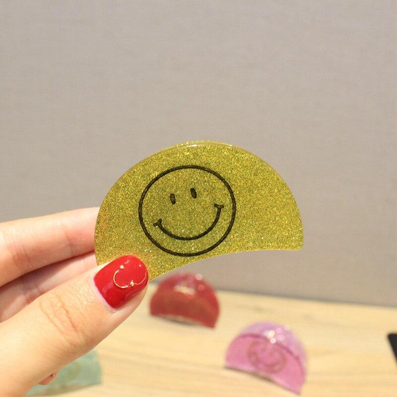 Koreansk stil Kvinnor Flickor Söt Emoji Leende Ansikte Candy Färger - Kläder tillbehör - Foto 2