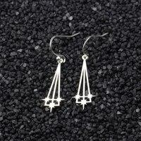 GORGEOUS TALE 10Pair Stainless Steel Star Drop Earrings For Women Geometric Jewelry Trendy Triangle Arrow Earrings Gold Aretes