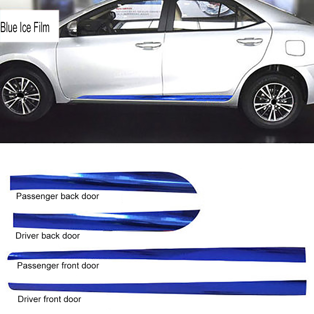Car Door Side Skirt Fender Carbon Fiber Protection Film Car-styling Stickers And Decals For Toyota Corolla 2014-2017 Accessories