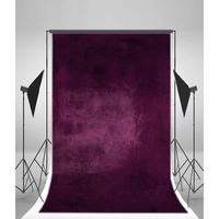 Onsale 1pc 5x7ft Purple Wall Vinyl Photography Backdrop Special Purple Photo Studio Background Props Computer Printed