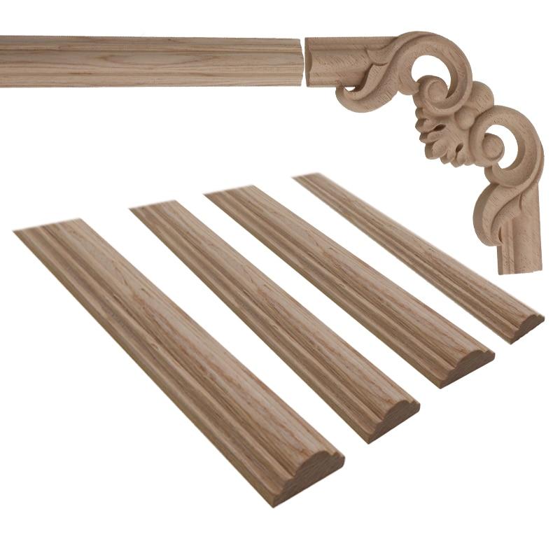 Wood Carving Deca Wooden Miniatures Unpainted Furniture Cabinet Decorative Figurines Applique Home Decoration The Moulding DIY