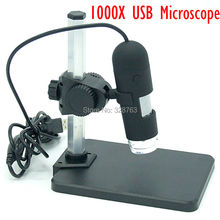 USB Цифровой Микроскоп 1000X8 LED 2 MPEndoscopeMagnifier Камера + Лифт Стенд Микроскоп Бесплатная Доставка