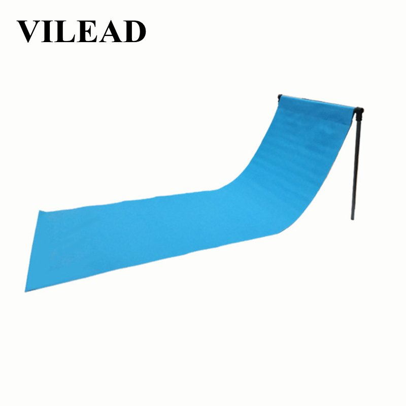VILEAD Portable Camping Chair Mat Fishing Outdoor Beach Hiking Waterproof Stable Folding Camping Metal Travel Tourist 4 colors-in Camping Chair from Sports & Entertainment