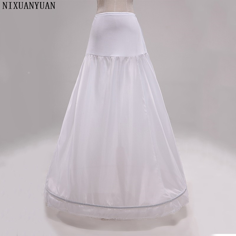 NIXUANYUAN New Arrival High Waist 1 Hoop Petticoat A-Line Wedding Bridal Underskirts Stock Vestidos Length 100cm