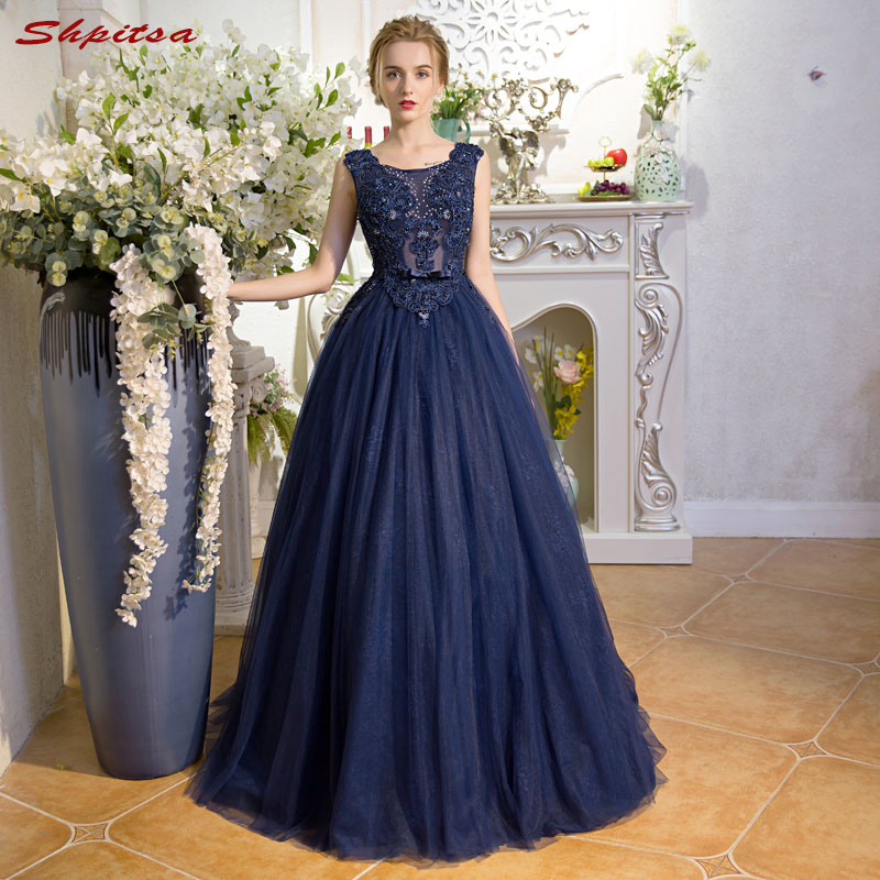 Navy Blue Mother Of The Bride Dresses For Weddings Beaded A Line Evening Groom Godmother Dresses