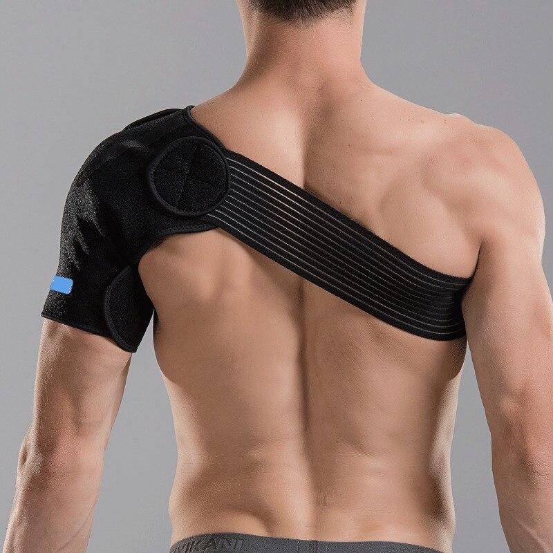 Self-heating Shoulder Brace Adjustable Shoulder Support Bandage Strap Dislocation Arthritis Joint Pain Relief Tennis Sports Safe(China)