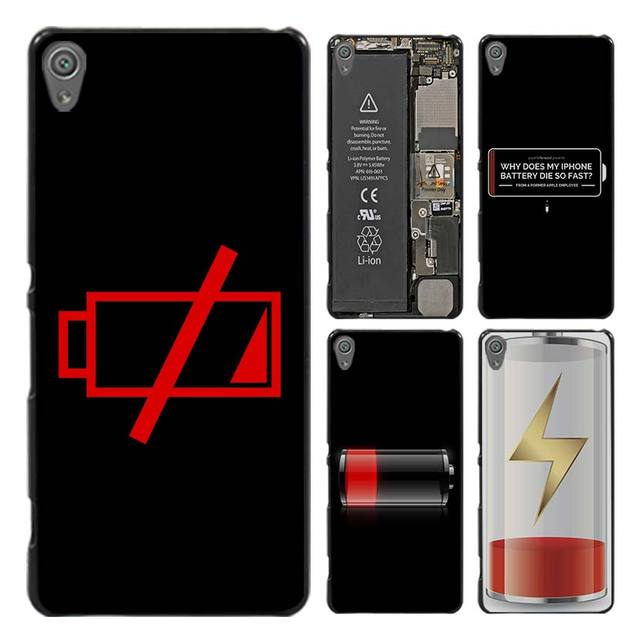 Battery Life Cycle Funny Style Case Cover for Sony Ericsson Xperia X XZ XA XA1 M4 Aqua E4 E5 C4 C5 Z1 Z2 Z3 Z4 Z5