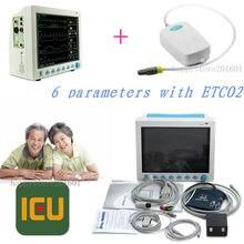 CONTEC CMS8000 Capnograph CO2 Patient Monitor ETCO2 Vital Signs 6 Parameters,FDA/CE