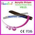 Oftálmica óptico optometría acrílico Vertical , lente de prisma del palillo de gaza cuero caja embalan VB15 envío gratis