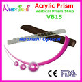 Ophthalmic Optical Optometry Acrylic Vertical Prism Lens Stick Strip Leather Case Packed VB15 Free Shipping