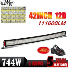 CO LIGHT 42 724W LED Light Bar 12D 4-Row Combo Beam Led Bar Work Light for 4x4 Truck ATV Toyota Boat Offroad Auto Driving Light co light 12d led bar curved 405w led light bar 32led light bar strobe work light combo led auto lamp for atv jeep truck offroad