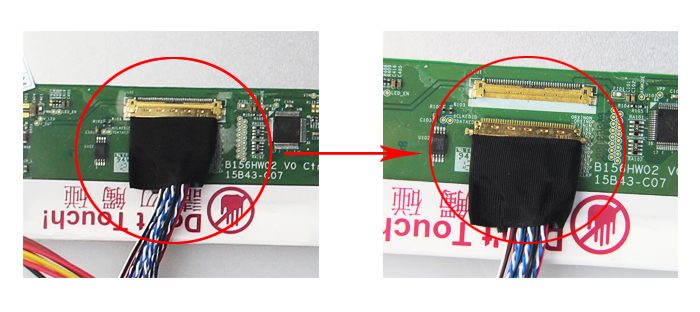 Image 4 - Kit for B156XW02/LTN156AT02 Controller board Panel Screen VGA DVI  HDMI LCD 15.6 LVDS 40pin Monitor M.N68676 1366X768 LED DIYLaptop  Repair Components