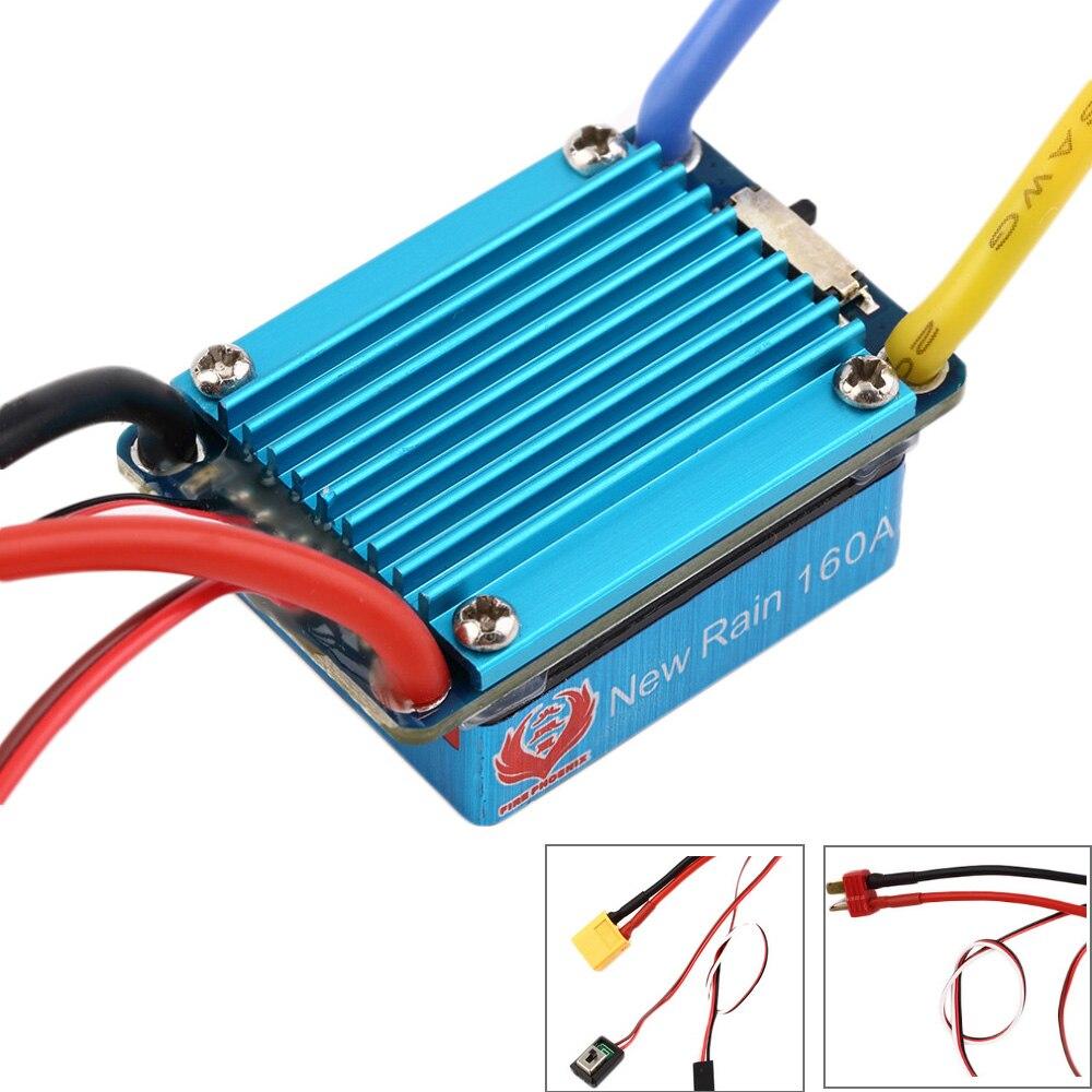 Impermeable cepillada ESC 160A 3 S con 5 V 1A BEC T-Plug 1/12 RC coche al por mayor Dropship