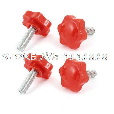 32mm Hex Head Dia 8mm Male Thread Screw On Type Clamping Knob 4 Pcs m8 x 40mm male thread 32mm star head dia screw on type clamping knob 8 pcs