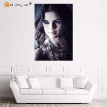 Nice Selena Gomez Poster Custom Satin Poster Print Cloth Fabric Wall Poster Print Silk Fabric Print Poster